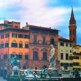 © Killzero Hitori | Италия | Флоренция, Площадь Синьории, Фонтан Нептуна и памятник Козимо Медичи